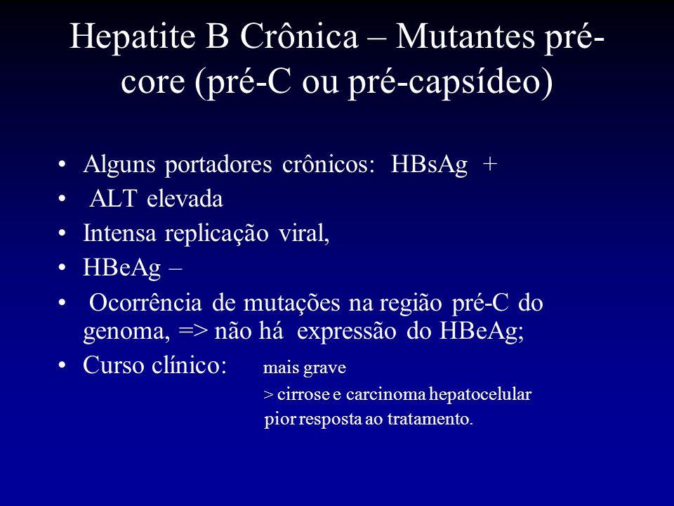 Hepatite B Crônica – Mutantes pré-core (pré-C ou pré-capsídeo)