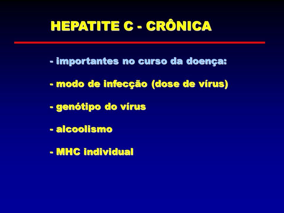 HEPATITE C - CRÔNICA - importantes no curso da doença: