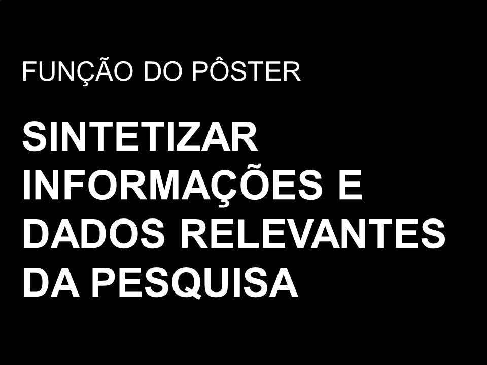SINTETIZAR INFORMAÇÕES E DADOS RELEVANTES DA PESQUISA