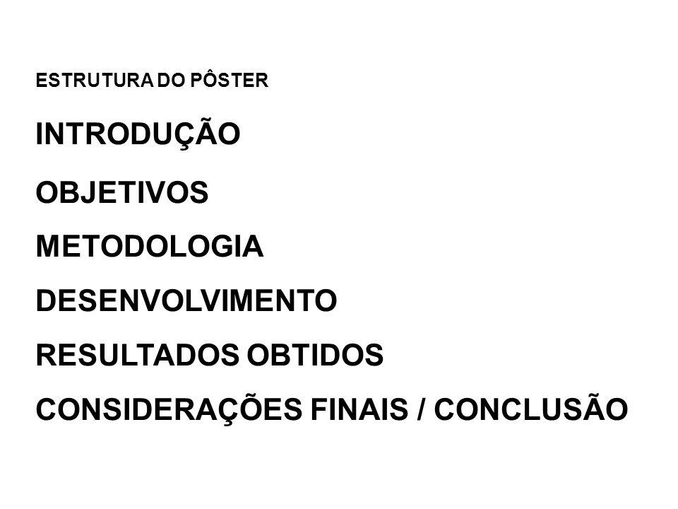 CONSIDERAÇÕES FINAIS / CONCLUSÃO