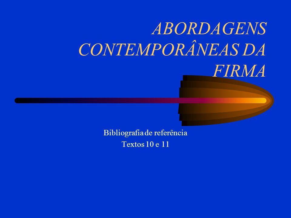 ABORDAGENS CONTEMPORÂNEAS DA FIRMA