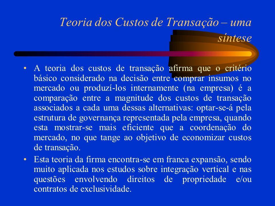 Teoria dos Custos de Transação – uma síntese