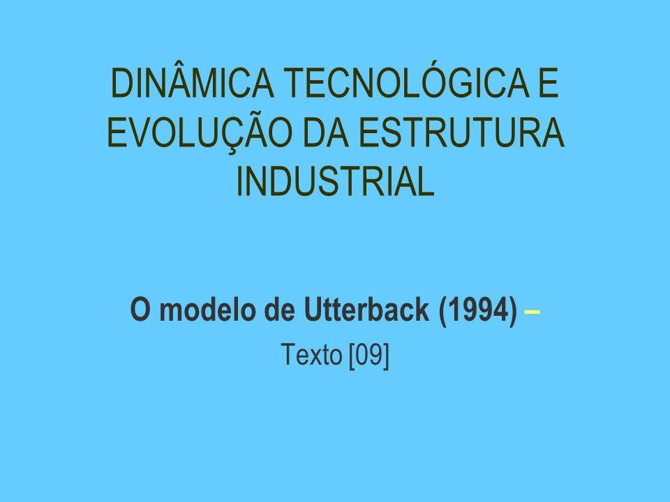 DINÂMICA TECNOLÓGICA E EVOLUÇÃO DA ESTRUTURA INDUSTRIAL