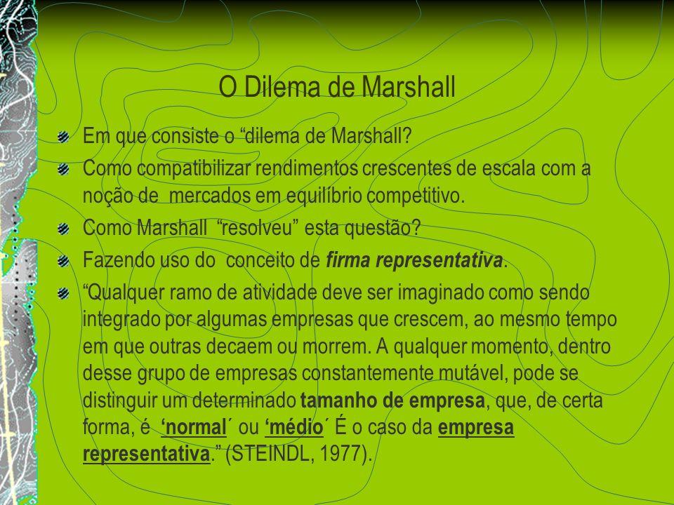 O Dilema de Marshall Em que consiste o dilema de Marshall