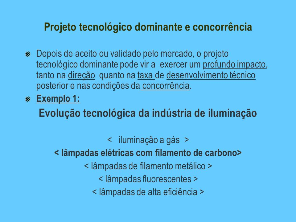 Projeto tecnológico dominante e concorrência