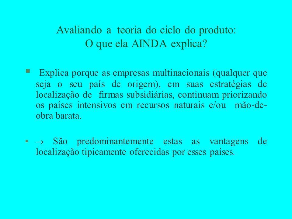Avaliando a teoria do ciclo do produto: O que ela AINDA explica