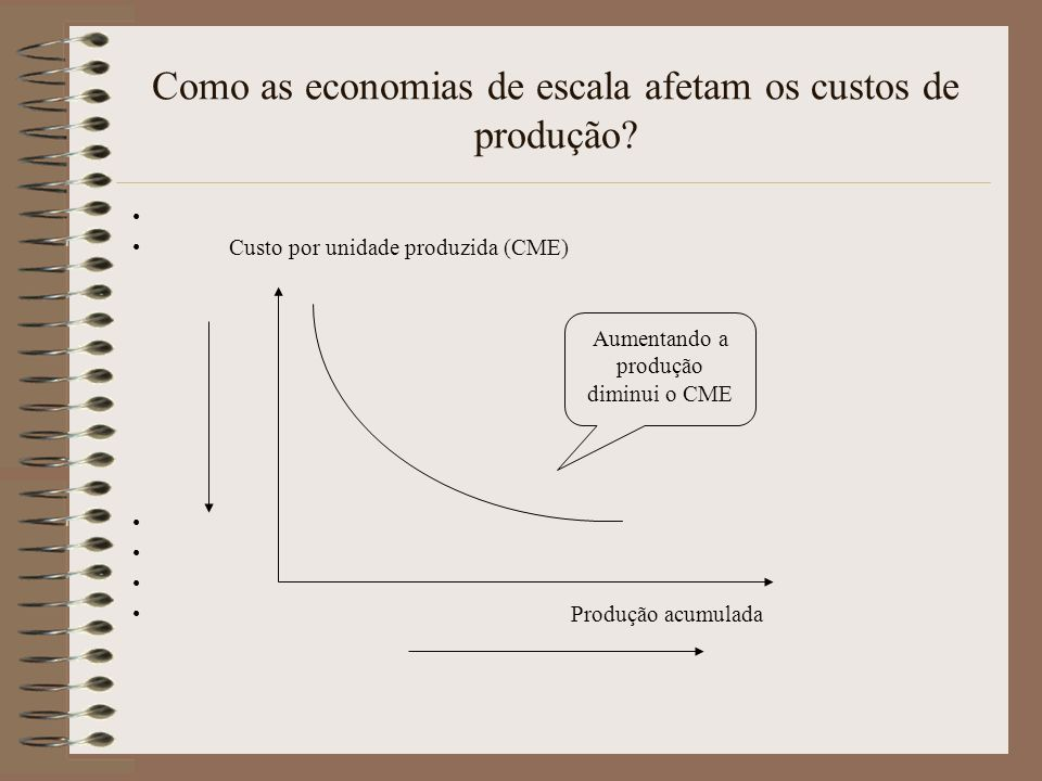 Como as economias de escala afetam os custos de produção