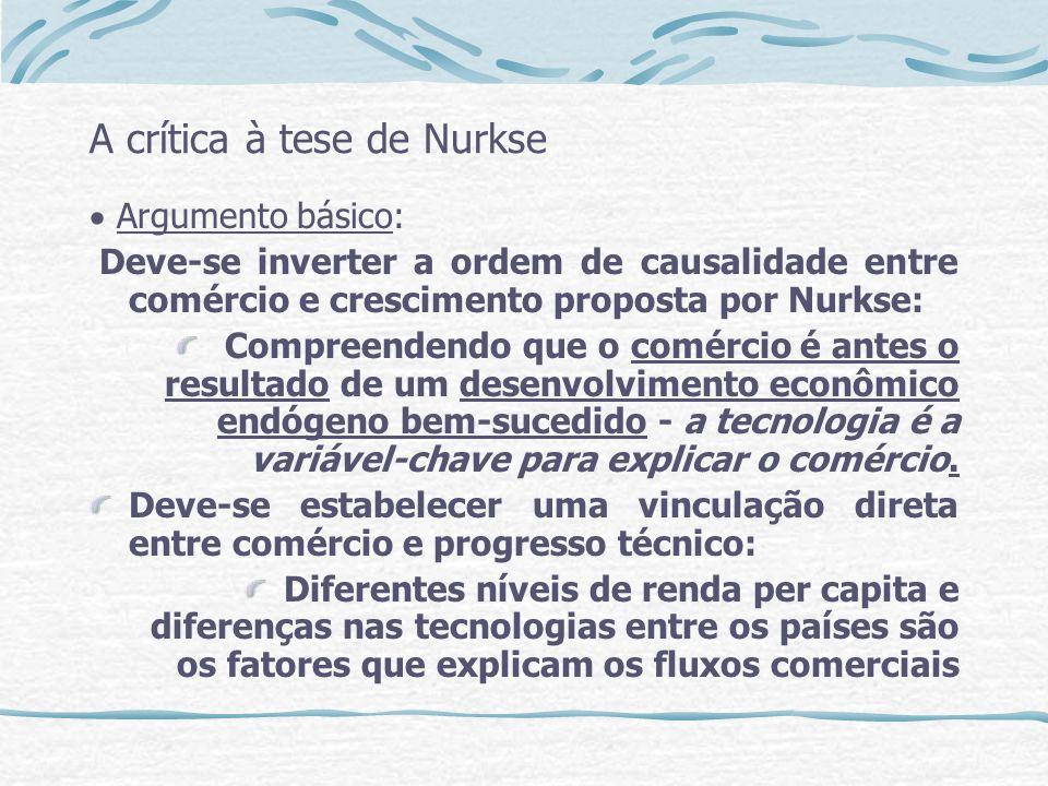 A crítica à tese de Nurkse