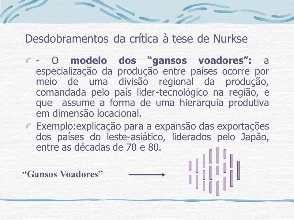 Desdobramentos da crítica à tese de Nurkse