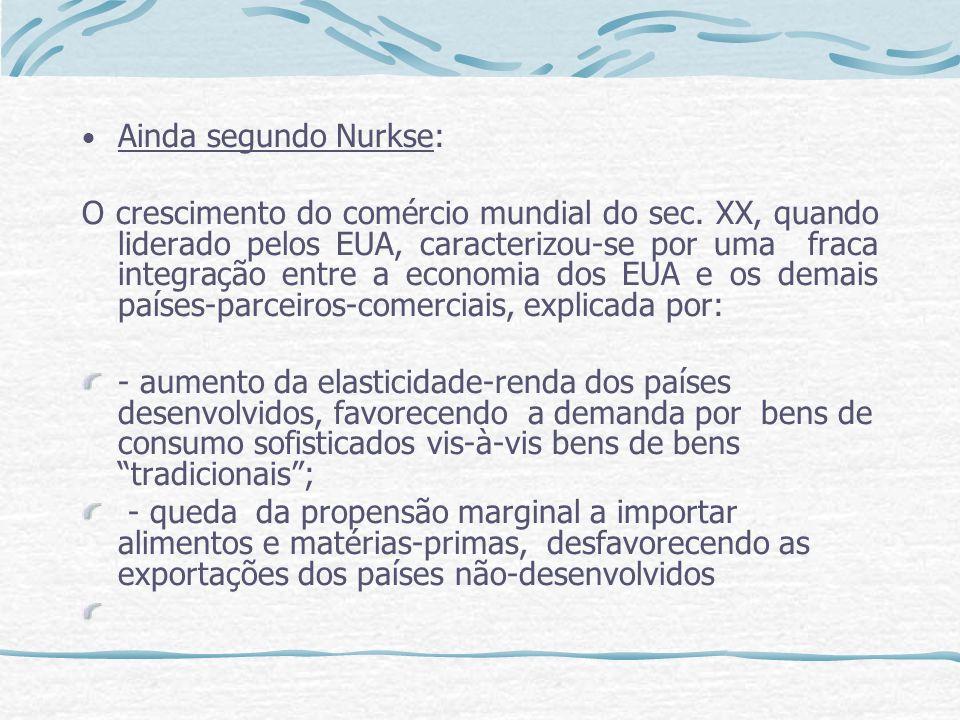 Ainda segundo Nurkse: