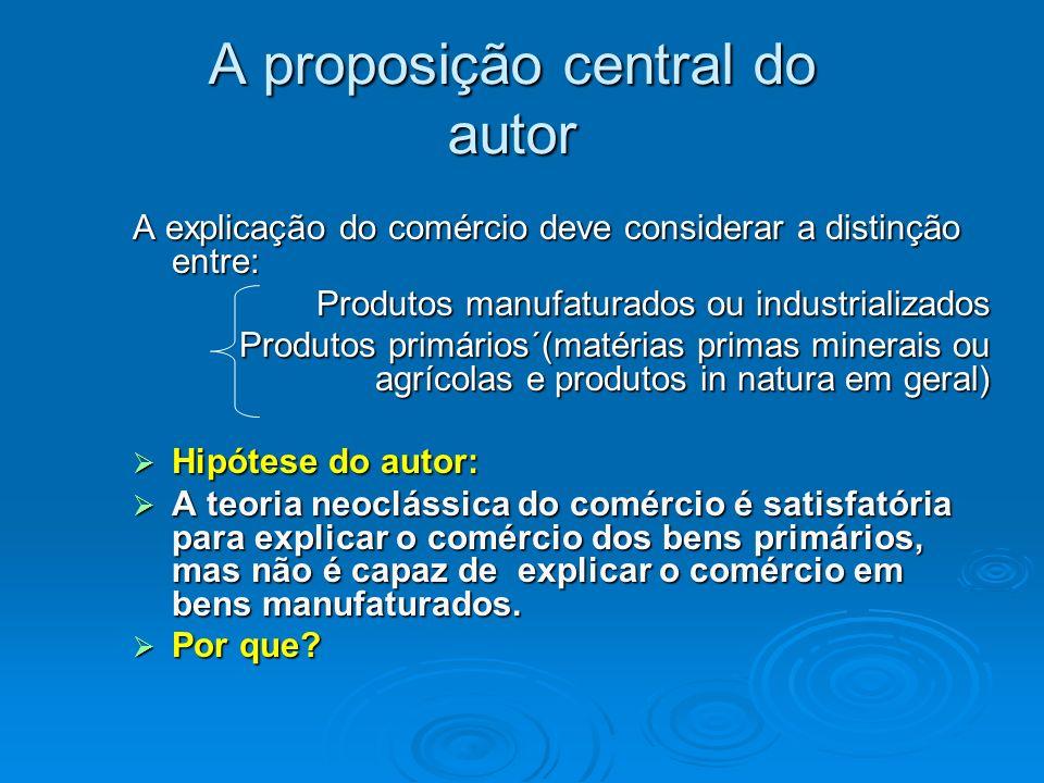 A proposição central do autor
