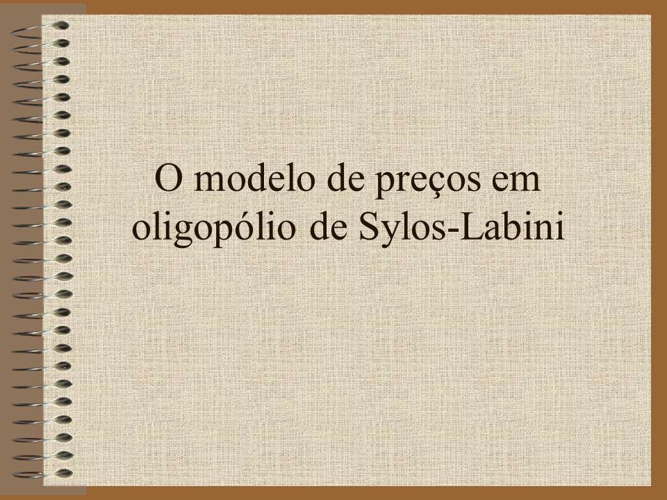 O modelo de preços em oligopólio de Sylos-Labini