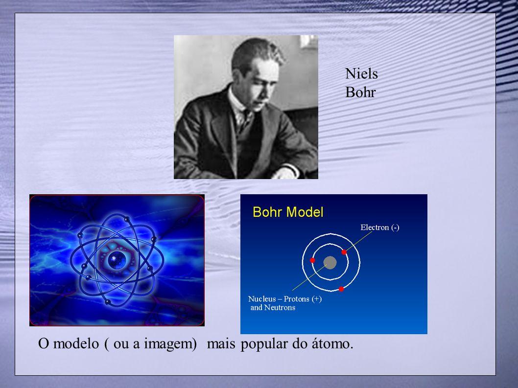 Niels Bohr O modelo ( ou a imagem) mais popular do átomo.