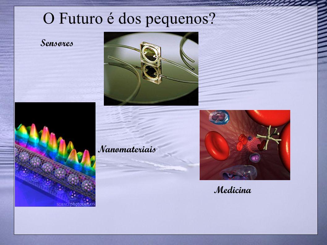 O Futuro é dos pequenos Sensores Nanomateriais Medicina