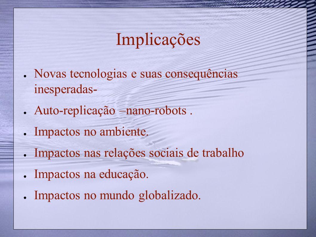 Implicações Novas tecnologias e suas consequências inesperadas-