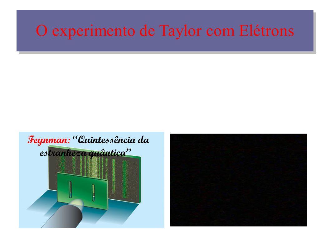 O experimento de Taylor com Elétrons