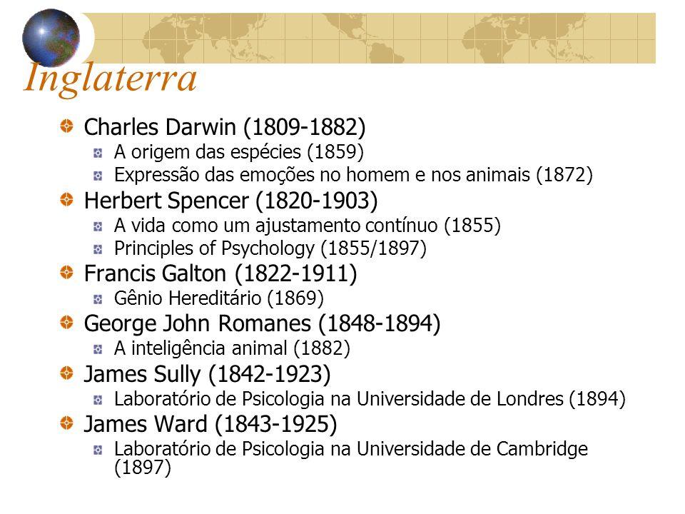 Inglaterra Charles Darwin (1809-1882) Herbert Spencer (1820-1903)