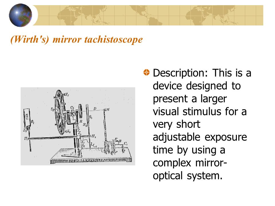 (Wirth s) mirror tachistoscope