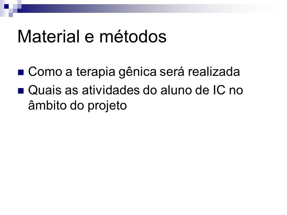 Material e métodos Como a terapia gênica será realizada