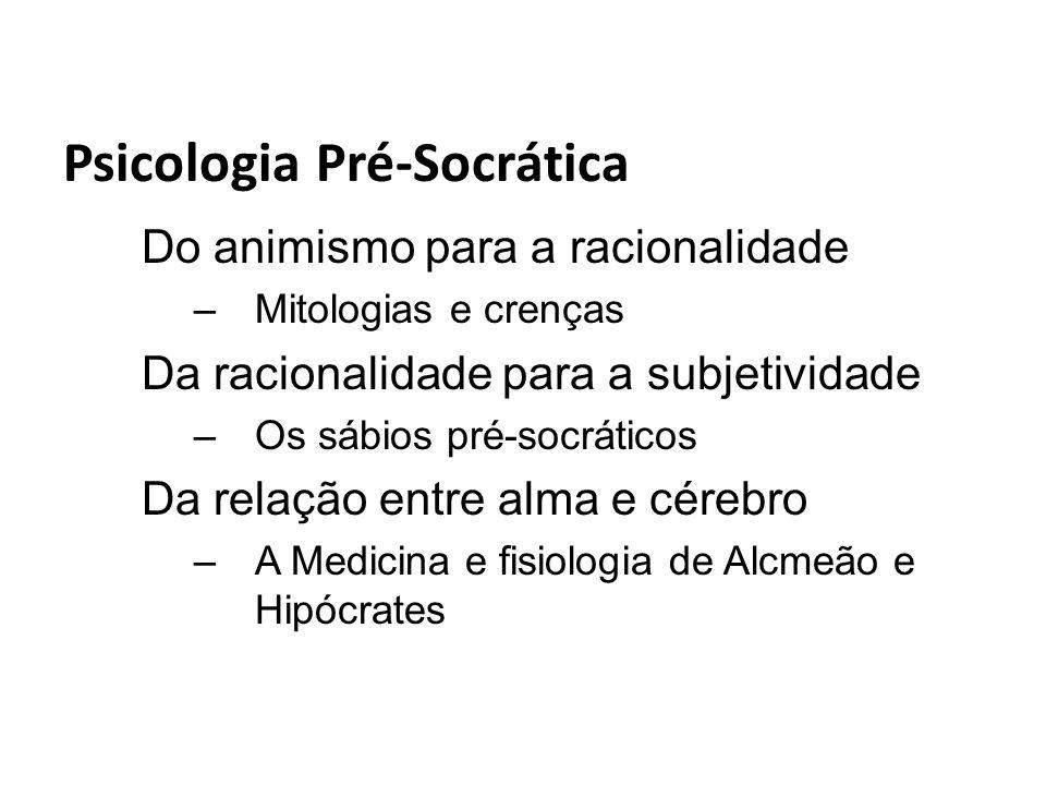 Psicologia Pré-Socrática