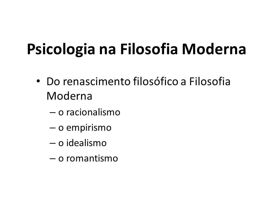Psicologia na Filosofia Moderna