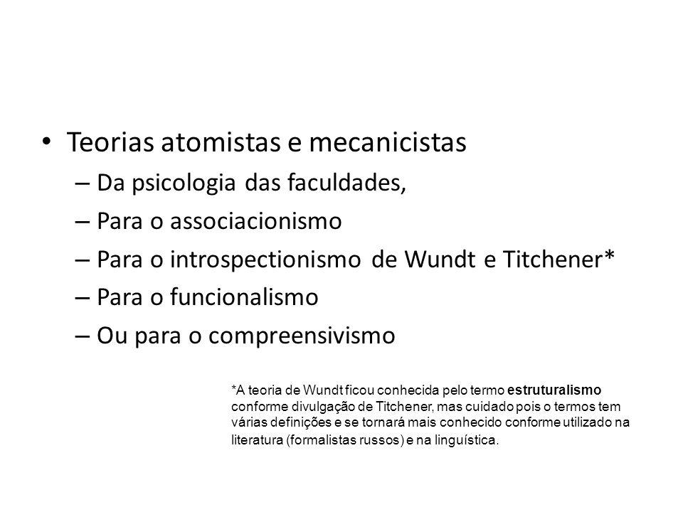 Teorias atomistas e mecanicistas