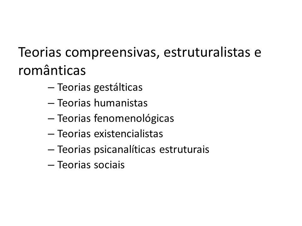 Teorias compreensivas, estruturalistas e românticas