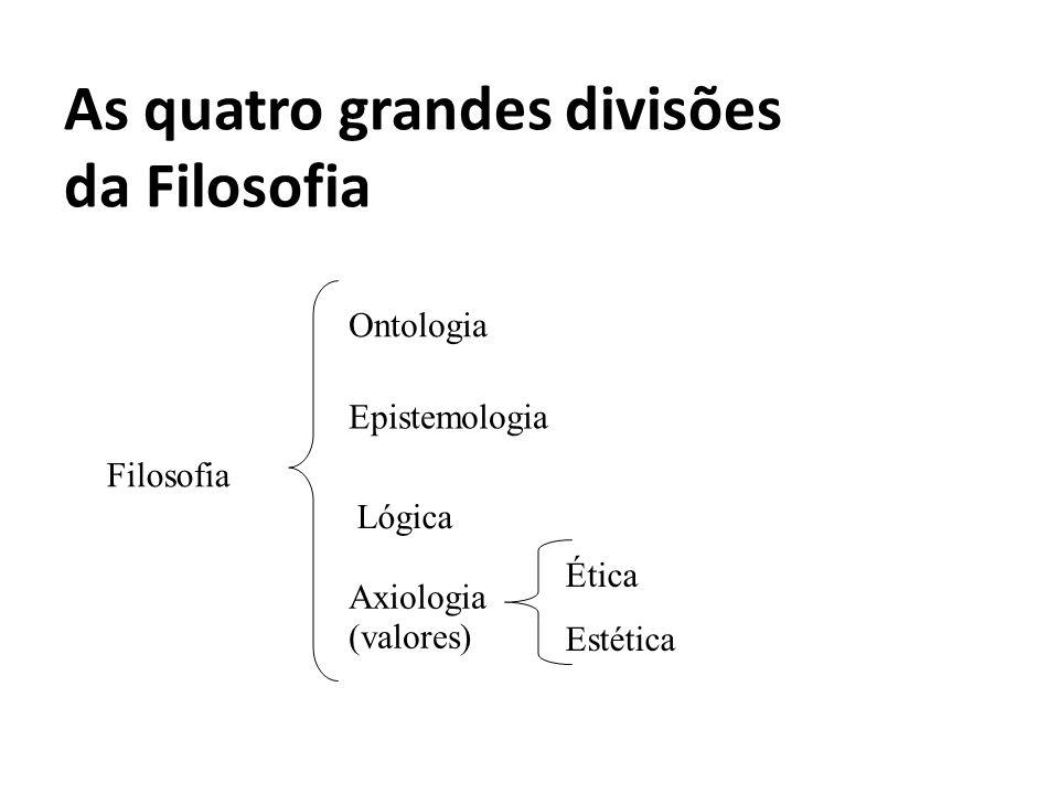 As quatro grandes divisões da Filosofia