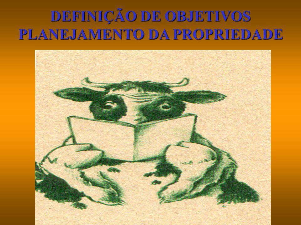 DEFINIÇÃO DE OBJETIVOS PLANEJAMENTO DA PROPRIEDADE