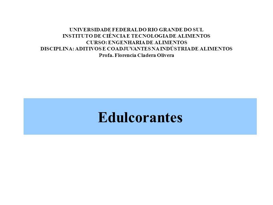 UNIVERSIDADE FEDERAL DO RIO GRANDE DO SUL INSTITUTO DE CIÊNCIA E TECNOLOGIA DE ALIMENTOS CURSO: ENGENHARIA DE ALIMENTOS DISCIPLINA: ADITIVOS E COADJUVANTES NA INDÚSTRIA DE ALIMENTOS Profa. Florencia Cladera Olivera