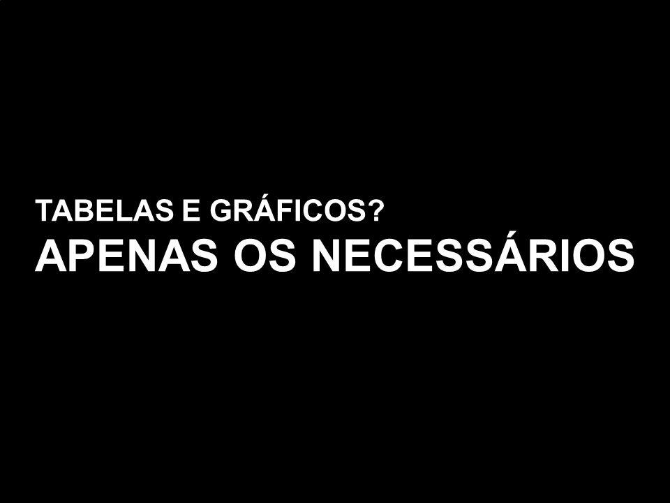TABELAS E GRÁFICOS APENAS OS NECESSÁRIOS