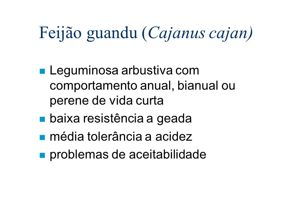Feijão guandu (Cajanus cajan)