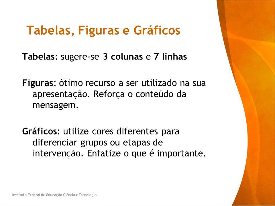 Tabelas, Figuras e Gráficos