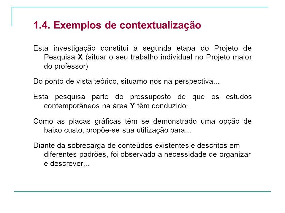 1.4. Exemplos de contextualização