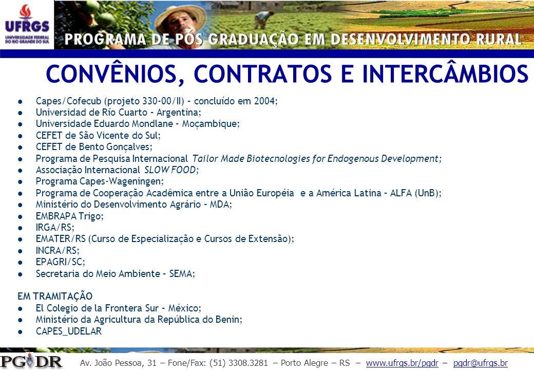 CONVÊNIOS, CONTRATOS E INTERCÂMBIOS