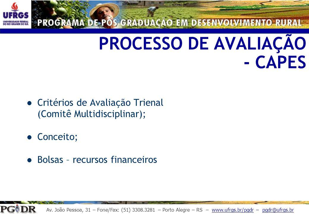 PROCESSO DE AVALIAÇÃO - CAPES