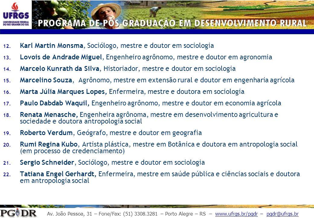 Karl Martin Monsma, Sociólogo, mestre e doutor em sociologia