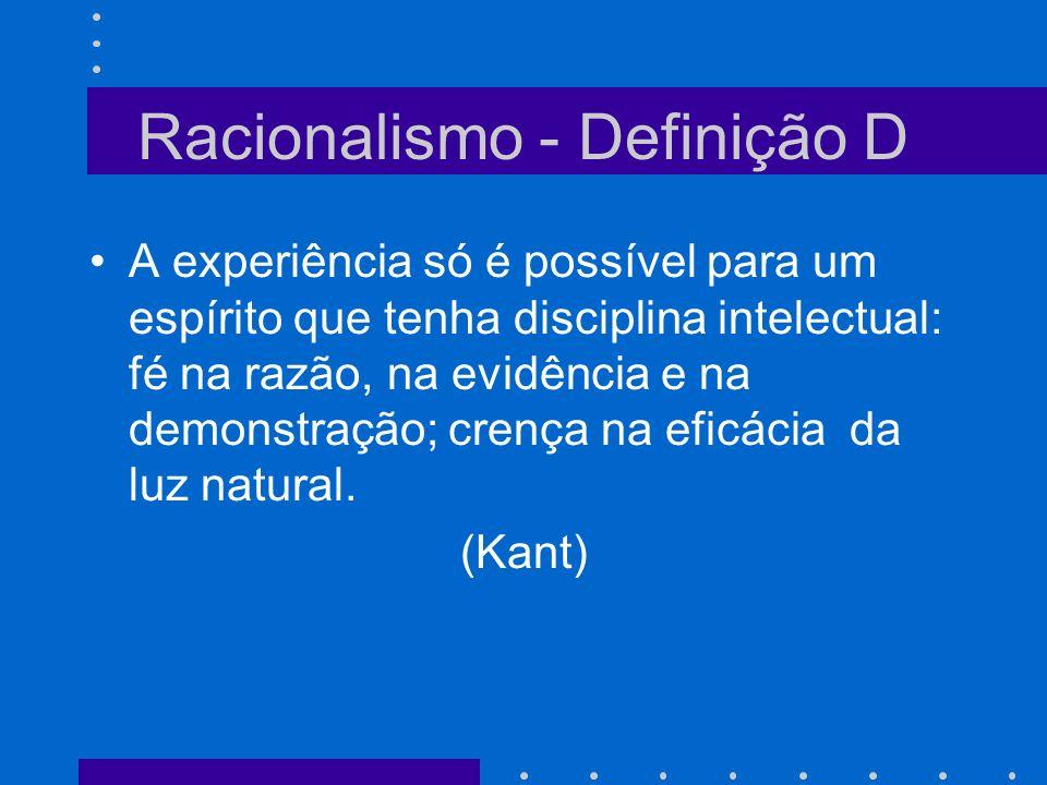 Racionalismo - Definição D