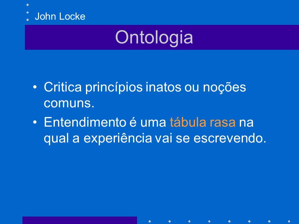 Ontologia Critica princípios inatos ou noções comuns.