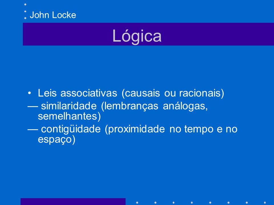 Lógica Leis associativas (causais ou racionais)
