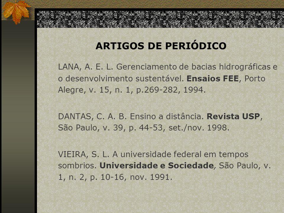 ARTIGOS DE PERIÓDICO