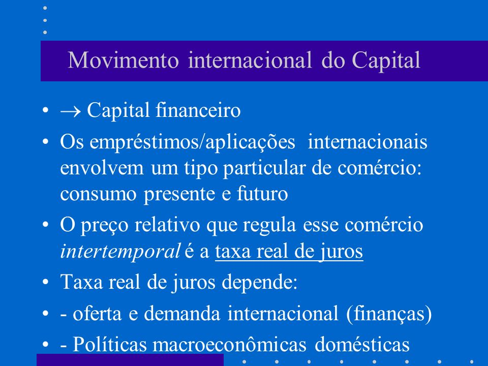 Movimento internacional do Capital