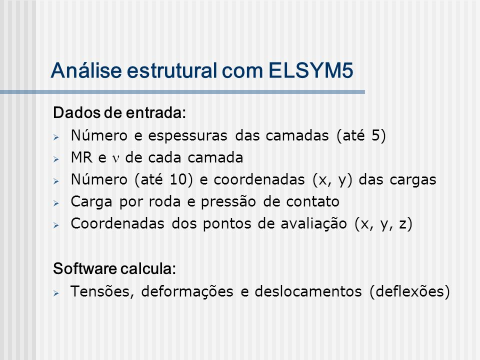 Análise estrutural com ELSYM5