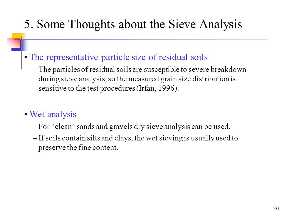 5. Some Thoughts about the Sieve Analysis