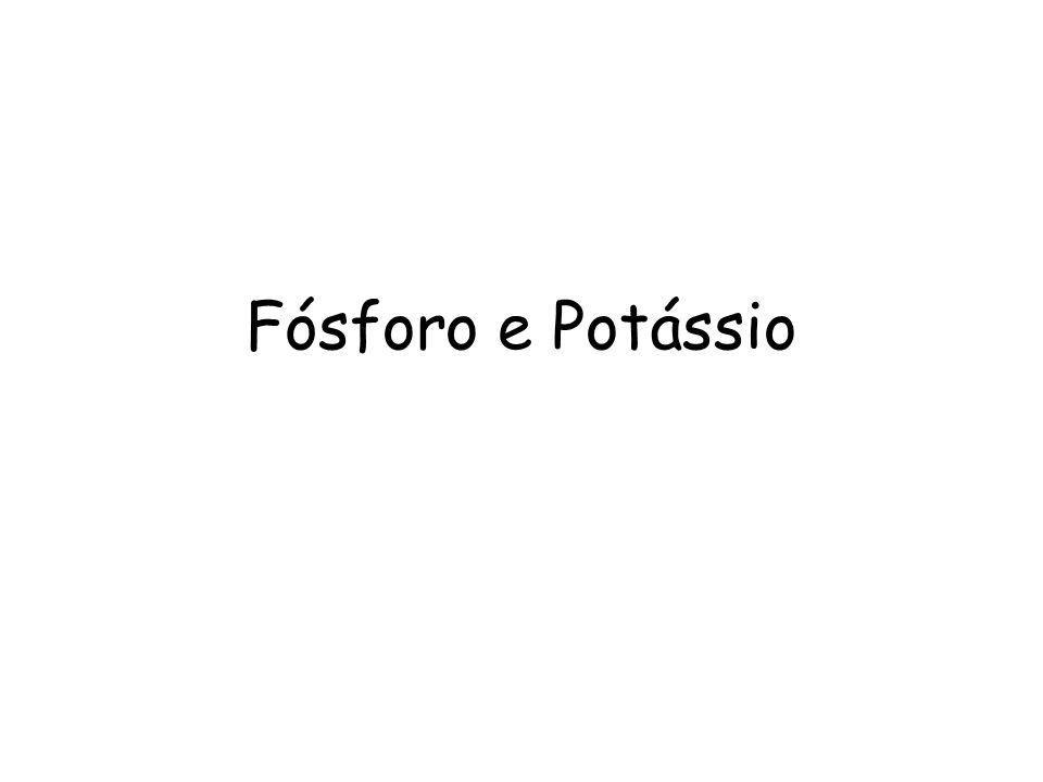 Fósforo e Potássio
