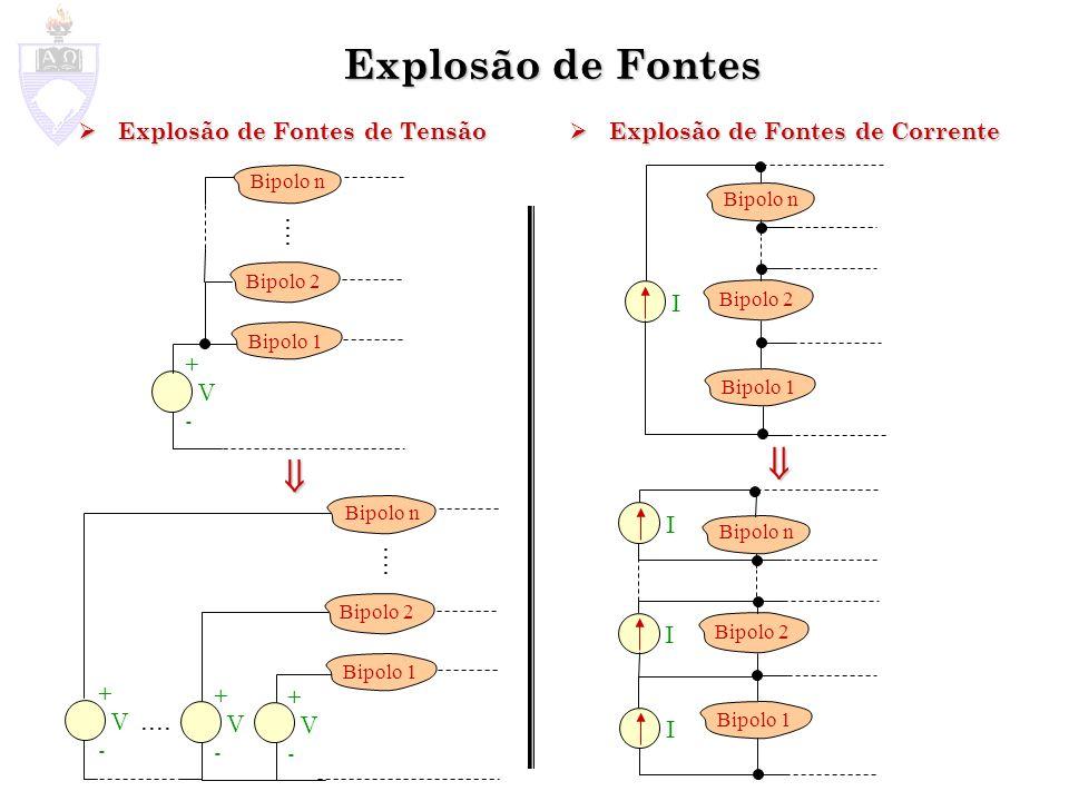 Explosão de Fontes   .... .... .... Explosão de Fontes de Tensão