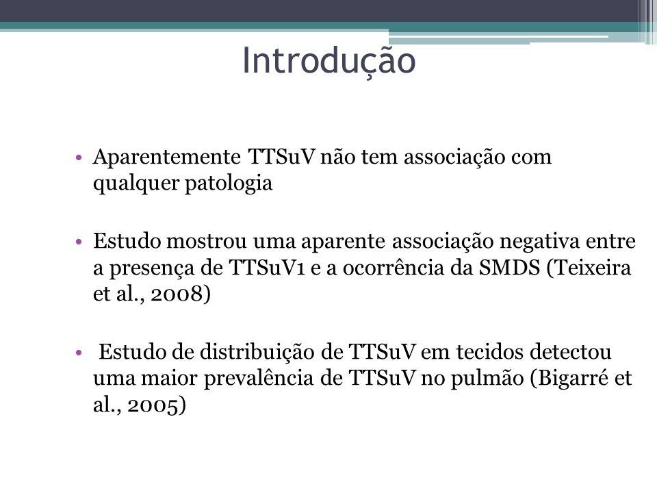 Introdução Aparentemente TTSuV não tem associação com qualquer patologia.