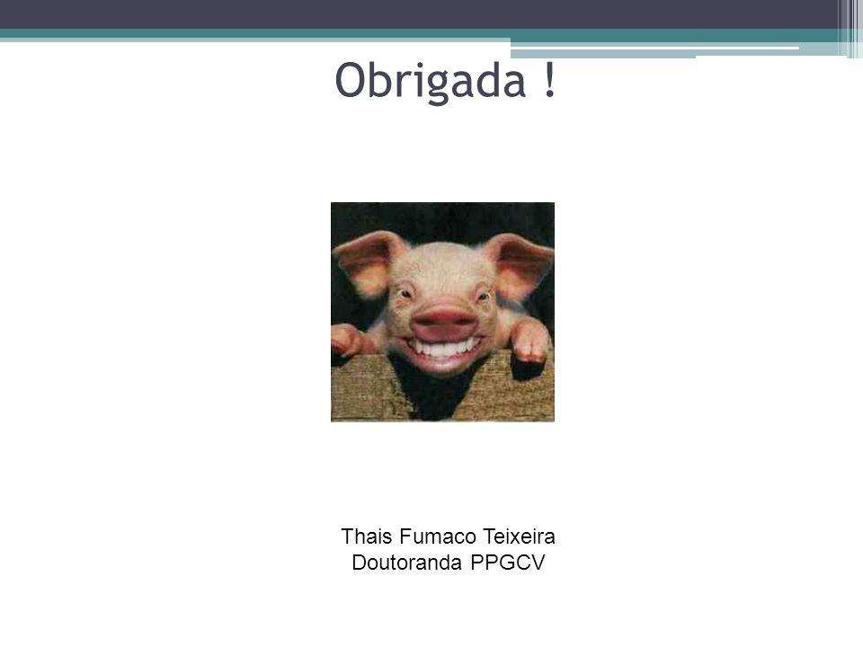 Obrigada ! Thais Fumaco Teixeira Doutoranda PPGCV