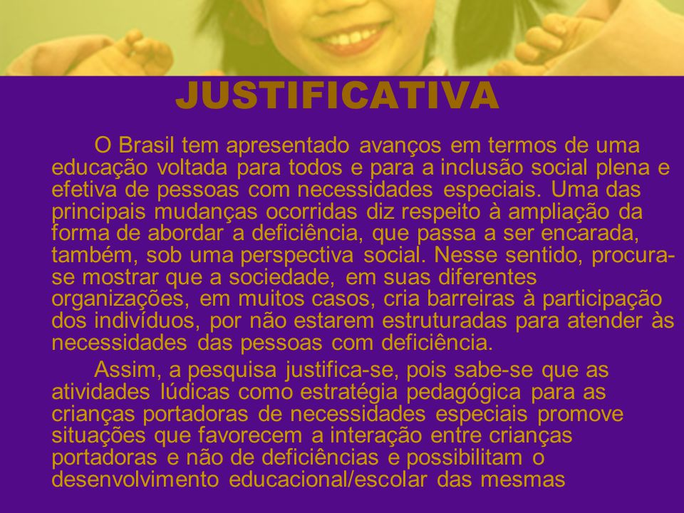JUSTIFICATIVA