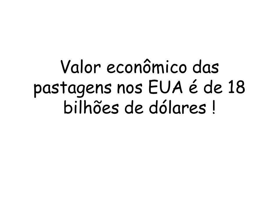 Valor econômico das pastagens nos EUA é de 18 bilhões de dólares !